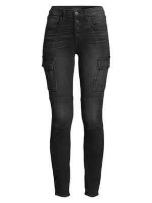 3x1 - Vida High-Rise Skinny Cargo Jeans - saks.c