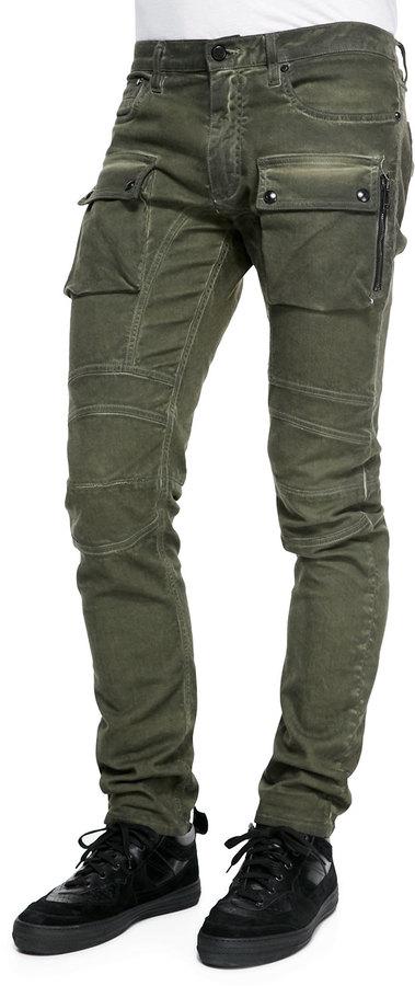 Belstaff Felmore Slim Fit Moto Cargo Jeans, $495 | Neiman Marcus .