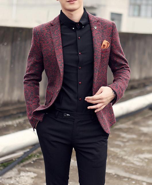 Mens Clothing | Blazer | Men's Cotton & Wool Casual Blazer | Mens .