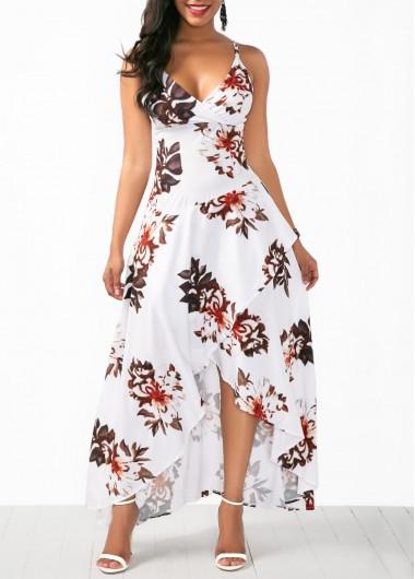 Overlap Flower Print White Slip Dress | Shop casual dresses .