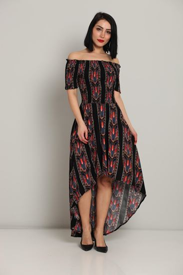 Nisan Asymmetrical Short Sleeve Casual Casual Dresses|Fimkastore .