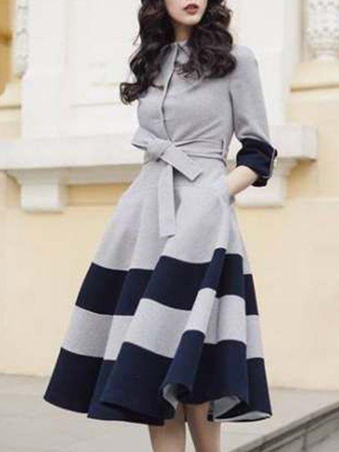 Stylewe Shirt Dress Long Sleeve Casual Dresses Date A-Line Shirt .