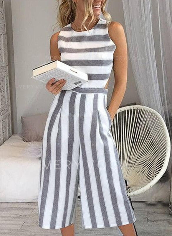 Striped Sleeveless Casual Dresses (199226303) - Dresses - #226303 .