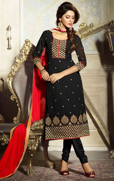 Picture of Amazing Black Casual Salwar Kameez | Indian outfits .