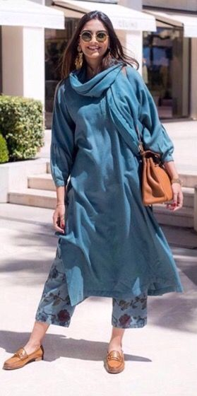 Sonam Kapoor in casual Salwar Kameez. … (With images) | Fashion .