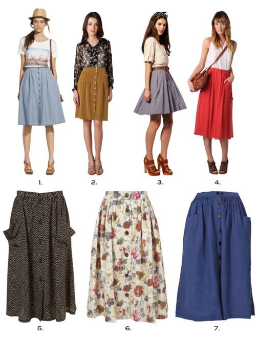 midi skirts with pockets. I want these. All of them. Pockets make .