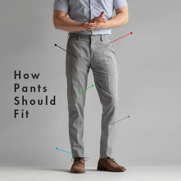 How Pants Should Fit: Dress Pants, Khakis, Jeans, and Shorts Exampl