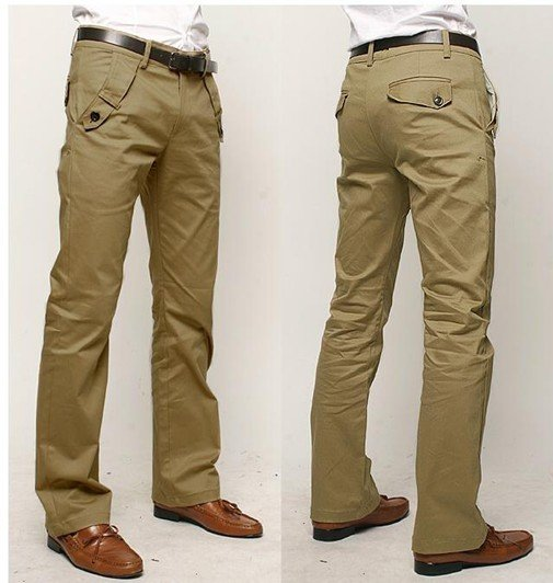 Hot Men's trousers Man's straight canister leisure trousers casual .