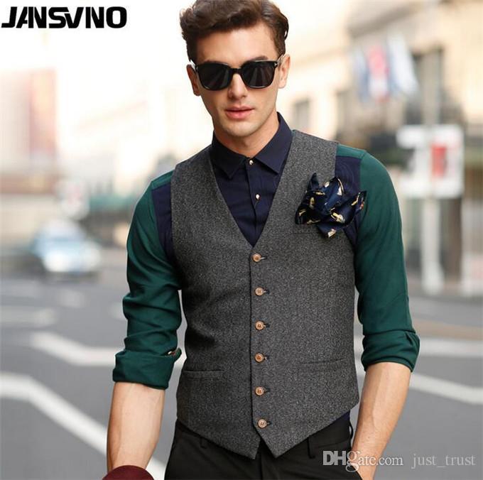 2020 NEW Fashion Sale Leather Vests Mens Suit Vest Business .