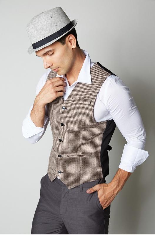 Men's Wool Blended Semi Casual Vest - (Brown) – Sensiblefashio