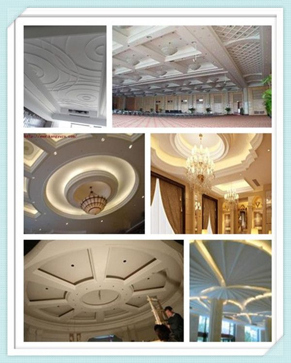 Mordern Latest Pop Royal Hall Roof Decoration GRG False Ceiling .