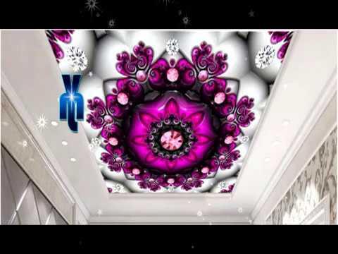 Ceiling Mural Flower Design False Ceiling || Flower Design Mural .