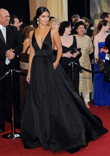 Inspired by Camila Alves Celebrity Dresses Ball Gown Black Sexy .