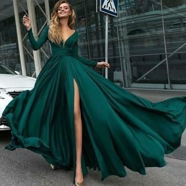Green Plain Custom Made Celebrity Dresses, Rs 12000 /piece Kokus .