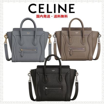 Shop CELINE Luggage 2019 SS Calfskin Plain Crossbody Shoulder Bags .