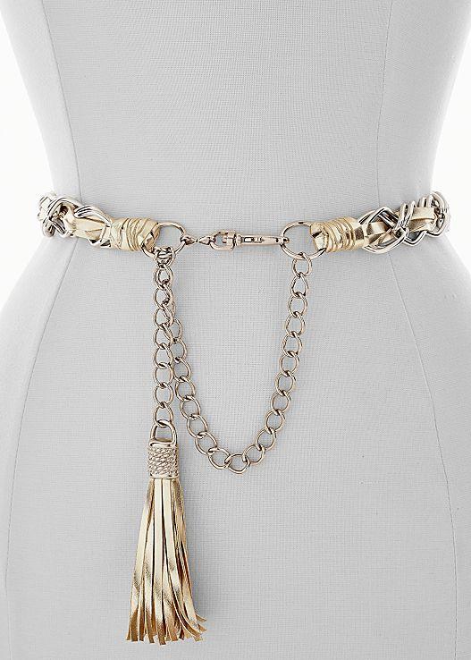 Chain belt Here's to the right amount of edge! Venus tassel chain .