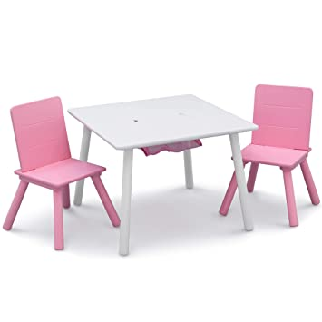 Amazon.com: Delta Children Kids Table and Chair Set with Storage .