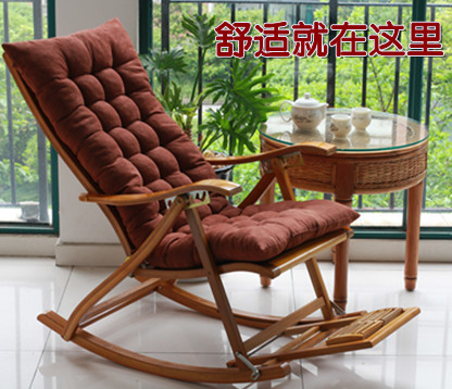 The new bamboo chair folding chairs rocking chair old pregnant .