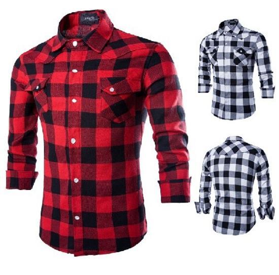 2020 Dress Shirts For Men Mens Shirt New Mens Slim Fit Casual And .