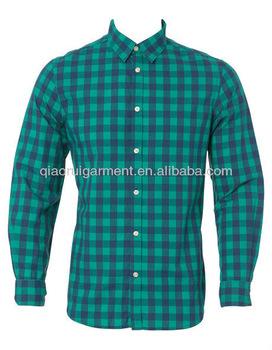 Men's Cotton Slim Fit Green Check Shirt - Buy Slim Fit Casual .
