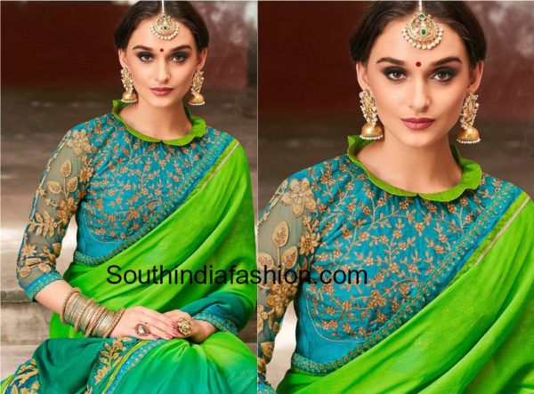 Stylish Blouse Designs For Chiffon and Georgette Sarees (With .