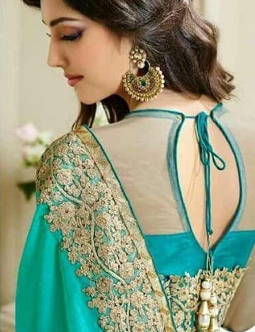 17 Latest Net Blouse Designs Catalog (With images) | Netted blouse .