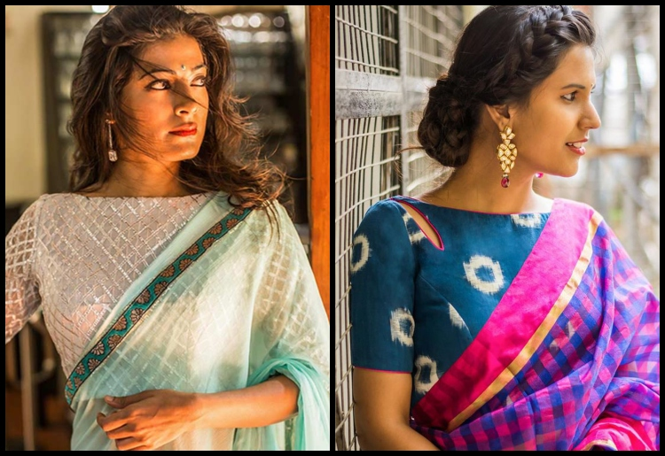 15 Splendid Blouse Designs Suitable For Chiffon And Silk Sare