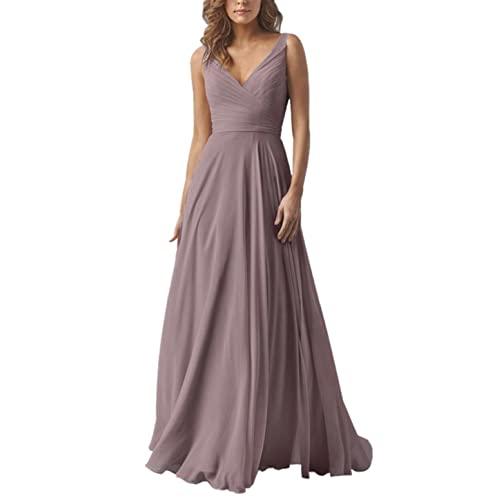 Long Chiffon Plum Dress: Amazon.c