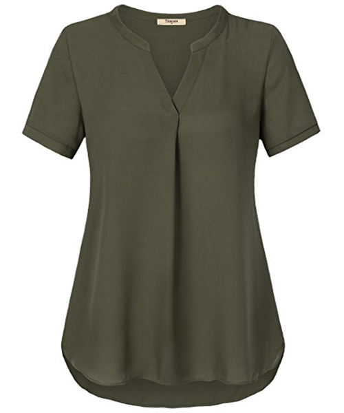 Modern Style Latest Chiffon Tops Mature Ladies Sample Blouse - Buy .