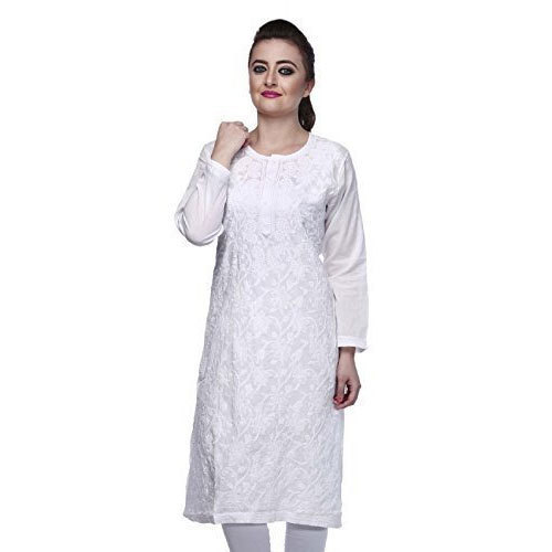 White Regular Ladies Chikan Kurti, Rs 100 /piece Alisha Cotton .