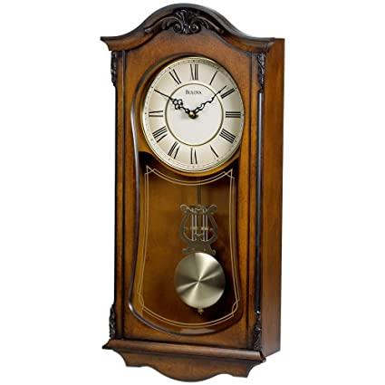 Buy Bulova C3542 Cranbrook Chiming Clock Finish Walnut Online at .