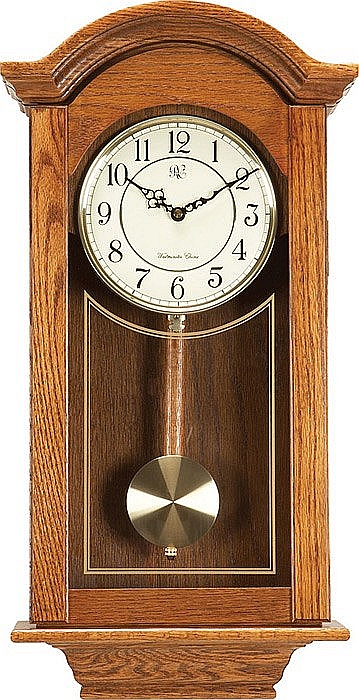River City - Chiming Regulator Wall Clock, Oak Finish # 6023O .