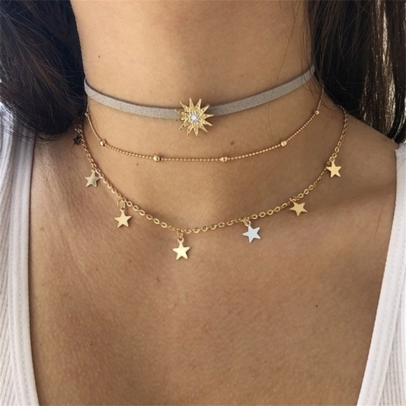 Jewelry | 430 Layered Bohemian Sun Choker Necklace | Poshma
