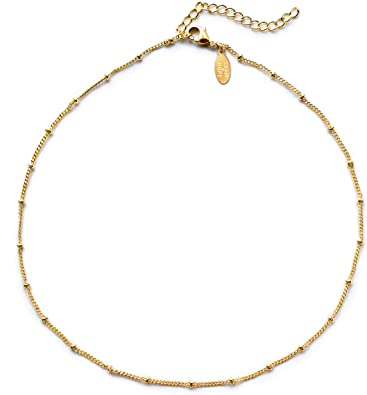 Amazon.com: Choker Necklace, Gold Choker Necklaces for Women | 14k .