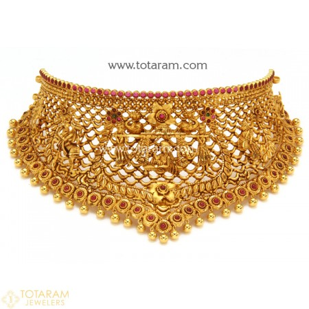 22K Gold Choker Necklaces -Indian Gold Jewelry -Buy Onli
