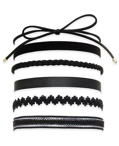 INC International Concepts INC Black 6-Pc. Set Choker Necklaces .