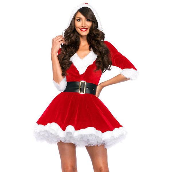 Fashion Christmas Dresses Women Clothes Sexy Santa Claus Halloween .
