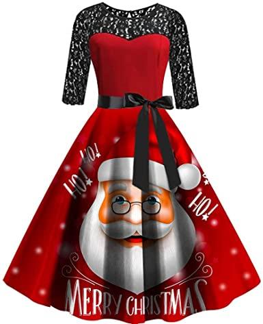 Amazon.com: aihihe Christmas Dresses for Women Short Sleeve .