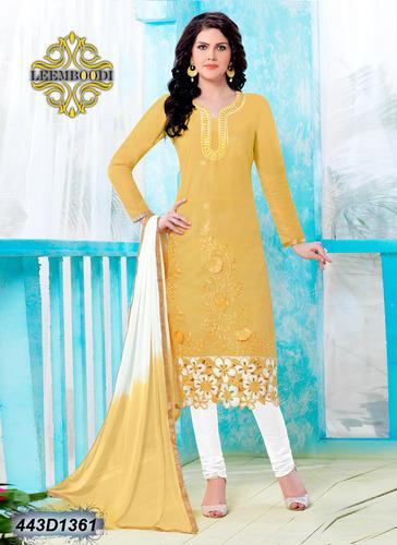 Cotton Yellow Churidar Salwar Suit, Rs 989 /piece Leemboodi .