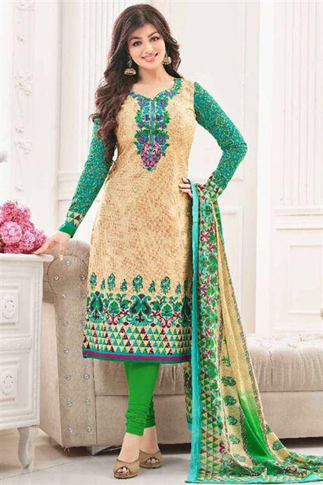 Salwar Suits Exporter Embroidered Lawn Cotton Churidar Salwar .