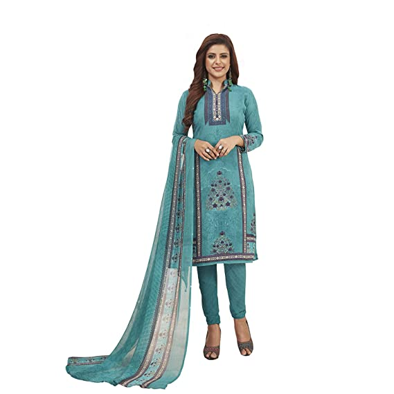 Buy Fashion Valley Women's Crepe Unstitched Patiyala Style .