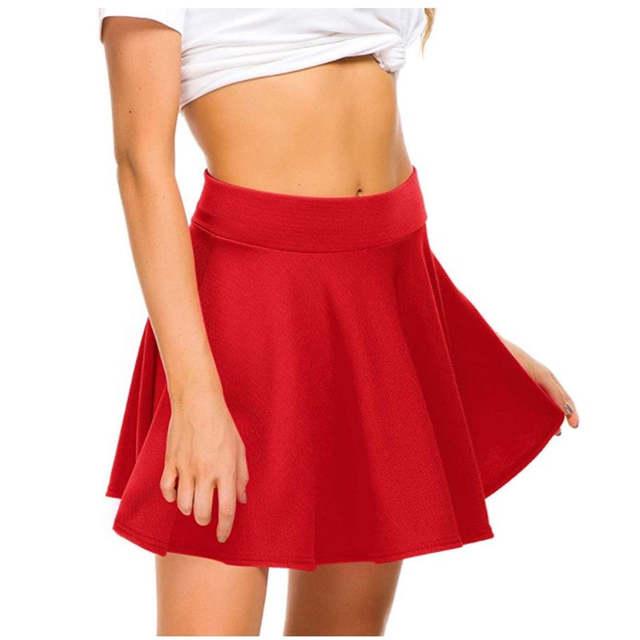 Online Shop Soft Good Quality Casual Half-circle Skirts High Waist .