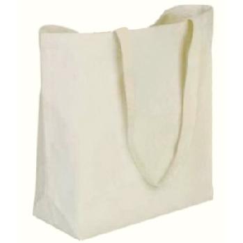 19 x 15 + 5 Reusable Canvas Shopping Bag with Handles | Cloth .