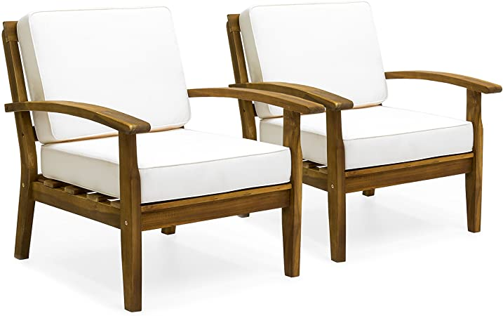 Amazon.com: Best Choice Products Set of 2 Outdoor Acacia Wood Club .