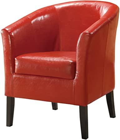 Amazon.com: Linon Home Decor Simon Club Chair, Red: Kitchen & Dini
