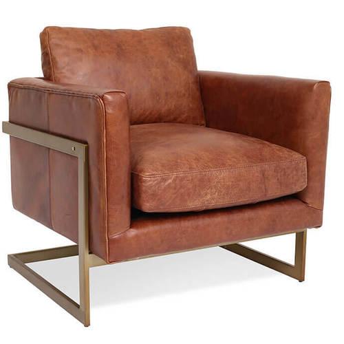 London Modern Cognac Leather Club Chair | Zin Ho