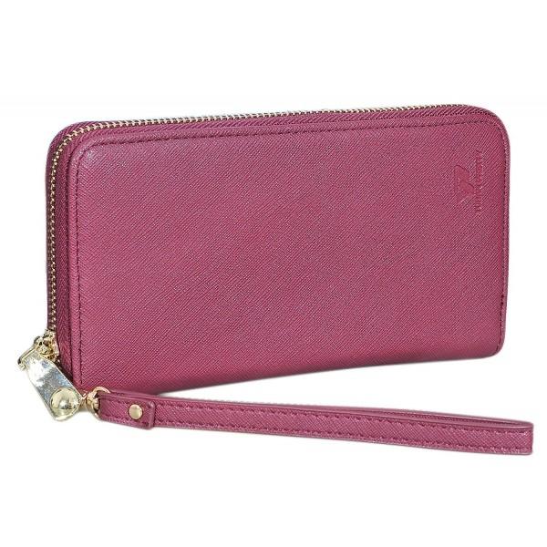 Women's Wallet Long Leather Zip Clutch Purse Wristlet Card Holder .