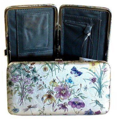 Women's Flat Opera Hard Case Hinge Clutch Wallet Women's Flat .