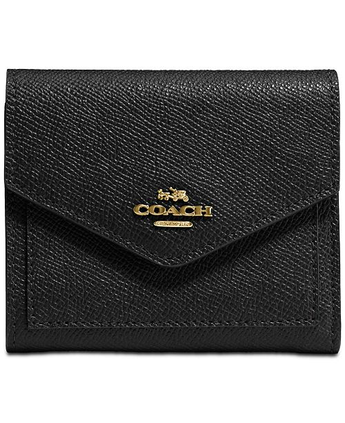 COACH Small Wallet in Crossgrain Leather & Reviews - Handbags .