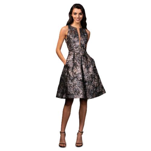 Theia Brocade Cocktail Dress - Helen Ains